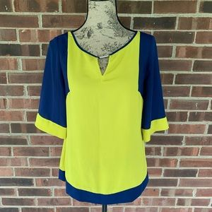 Banana Republic color block blouse